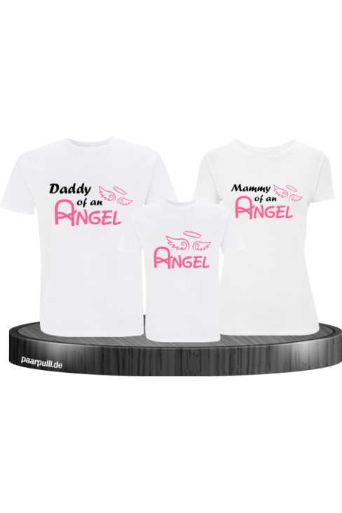 Angel Familie in weiß T Shirts Familienlook
