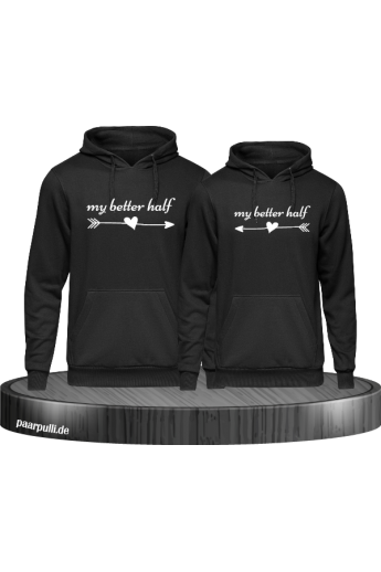 My Better Half Partnerlook Hoodies in schwarz