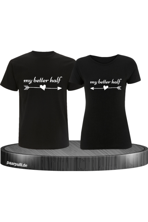 My Better Half Partnerlook TShirts in schwarz