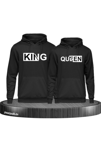 King & Queen Hoodies mit besonderem Design