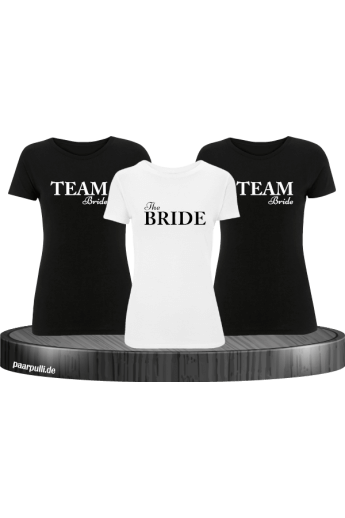 The Bride & Team Bride Junggesellenabschied T-Shirts