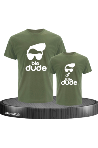 Big Dude little dude familienlook Shirts in khaki
