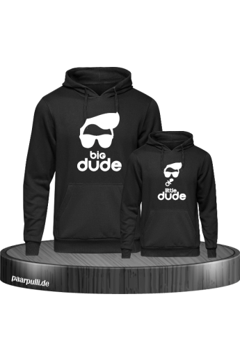 Big Dude Little Dude Hoodies in schwarz