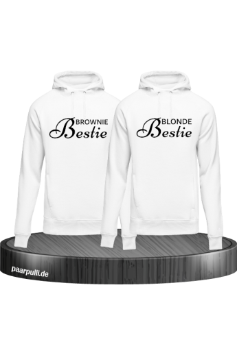 Brownie Bestie und Blonde Bestie Best Friends Hoodies