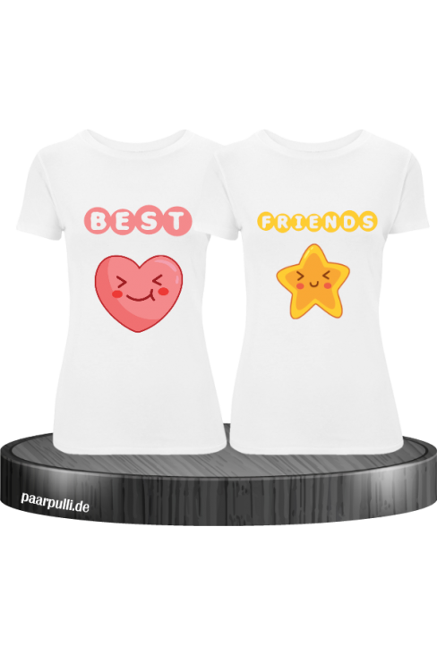 Heart & Star Shirt weiß