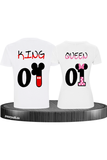 King Queen Mickey & Minnie weiß