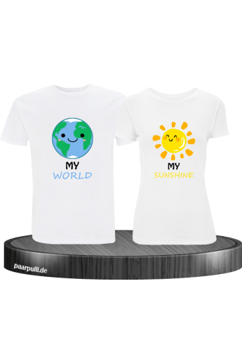 My World My Sunshine Shirts weiß