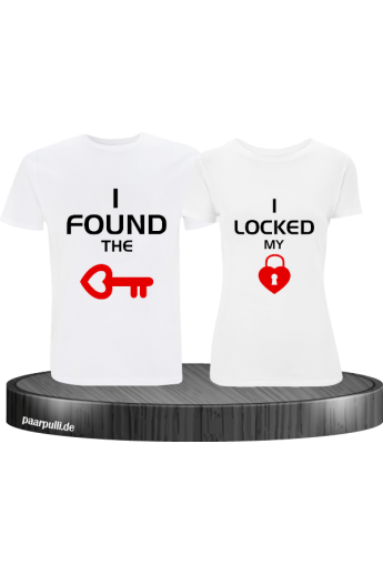 I locked my heart T-Shirt weiß