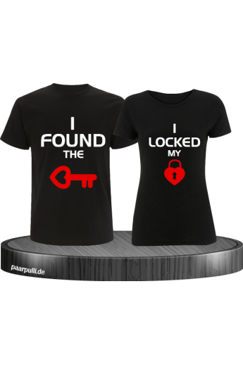 I locked my heart T-Shirt schwarz