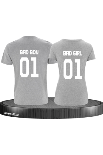 Bad Boy und Bad Girl Pärchen-Shirt