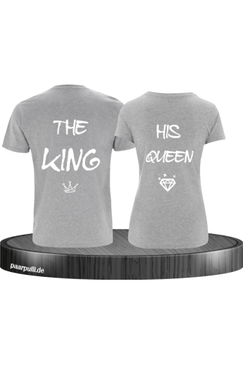 The King und Queen mit diamant auf graue partner t shirts