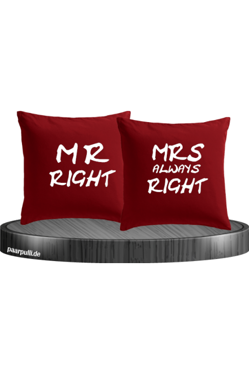 Mr Right und Mrs always Right rot