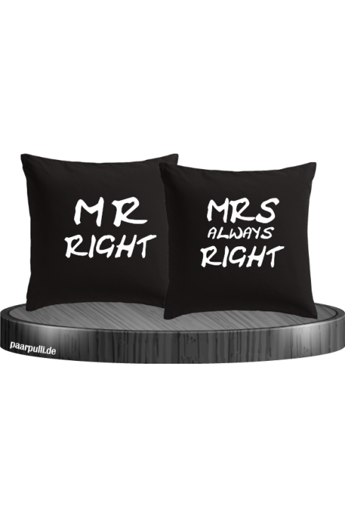 Mr Right und Mrs always Right schwarz