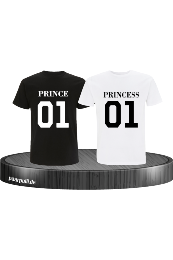 Prince Princess Bruder Schwester Partnerlook in Schwarz Weiß