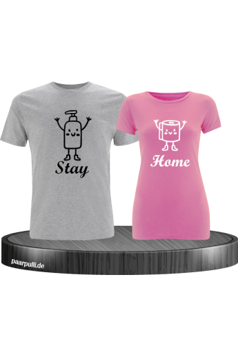Stay Home Partnerlook T-Shirts