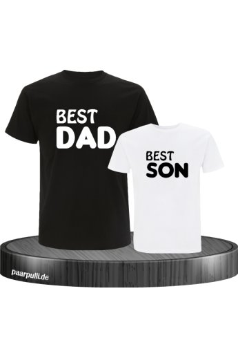 Best Dad und Best Son Partnerlook T-Shirts