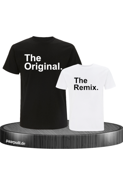 The Original und The Remix in schwarz weiß