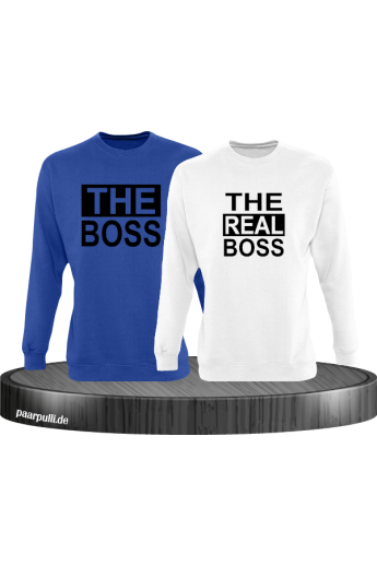 The Boss The real Boss sweatshirts partnerlook in blau-weiß