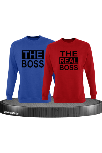 The Boss und The Real Boss Partnerlook Sweatshirts