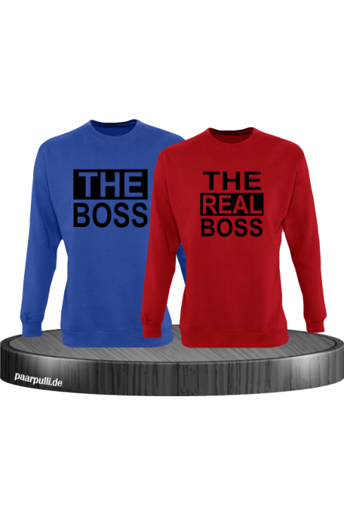 The Boss The real Boss sweatshirts partnerlook in blau-rot