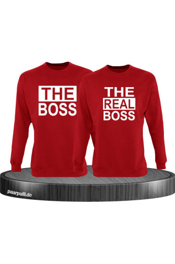 The Boss The real Boss sweatshirts partnerlook in rot