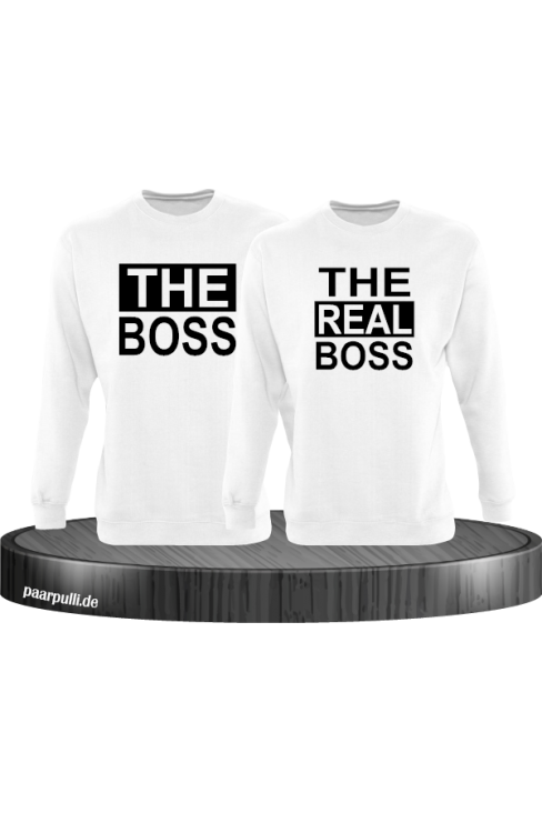 The Boss The real Boss sweatshirts partnerlook in weiß