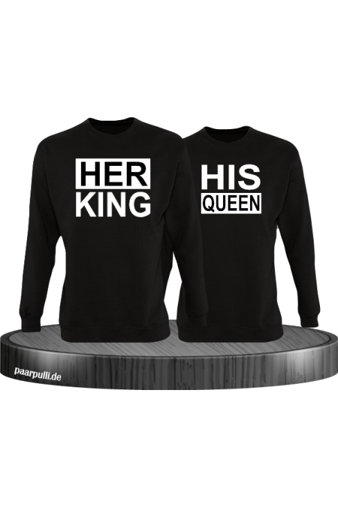 Her King His Queen Partnerlook Sweatshirts in schwarz
