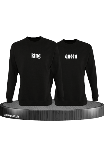 King Queen schlichtes Design Partnerlook Sweatshirts