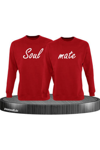 Soul mate Pullover in rot