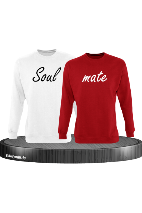 Soul mate Pullover in weiß rot