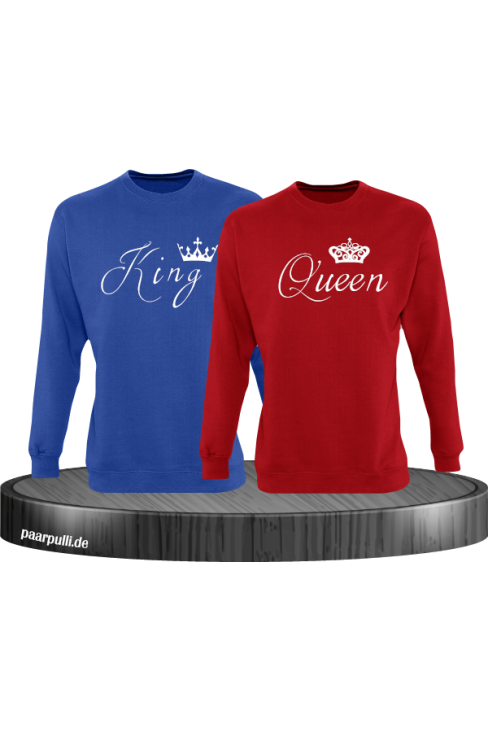 King Queen Rot blau