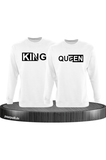 King und Queen mit besonderem Design Partnerlook Sweatshirts