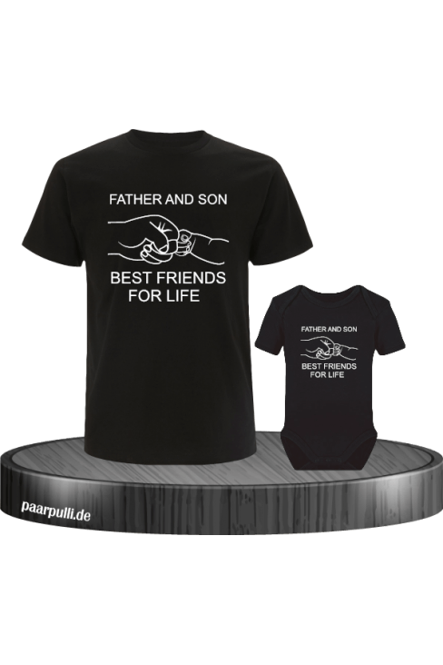 Father Son Best Friends in schwarz