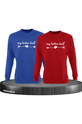 My better half Partnerlook Sweatshirts in blau rot