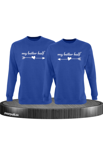 My better half Partnerlook Sweatshirts in blau
