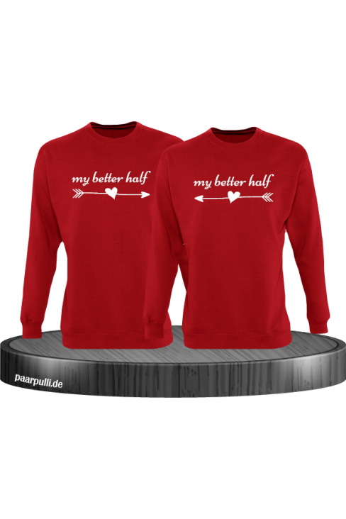 My better half Partnerlook Sweatshirts in rot