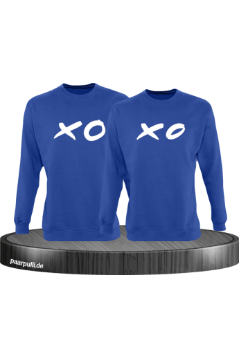 XO XO Partnerlook Sweatshirts in blau