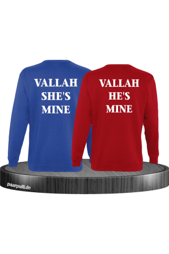 Vallah She's Mine Vallah He's Mine Sweatshirts in blau rot