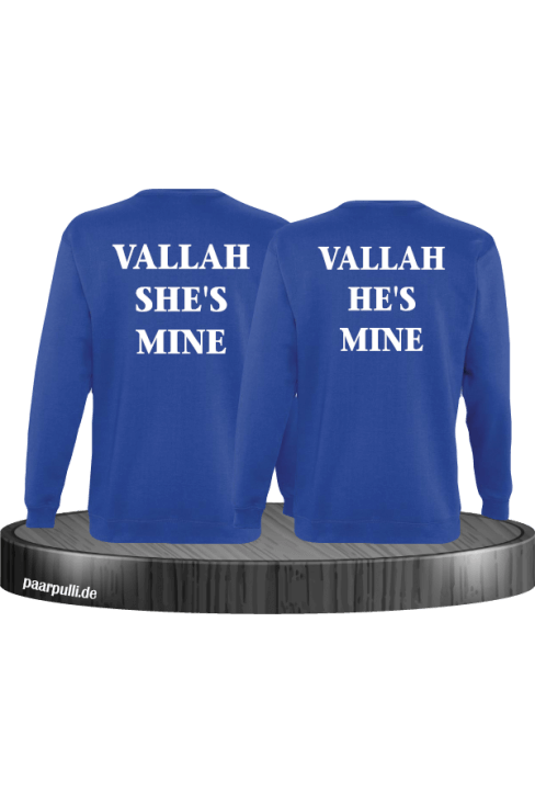 Vallah She's Mine Vallah He's Mine Sweatshirts in blau