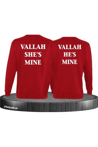 Vallah She's Mine Vallah He's Mine Sweatshirts in rot