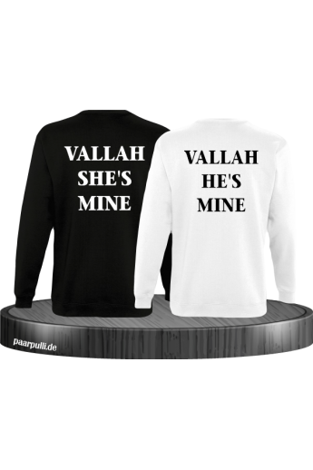 Vallah She's Mine Vallah He's Mine Sweatshirts in schwarz weiß