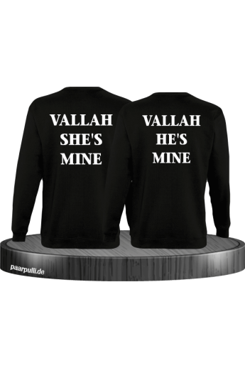 Vallah She's Mine Vallah He's Mine Sweatshirts in schwarz