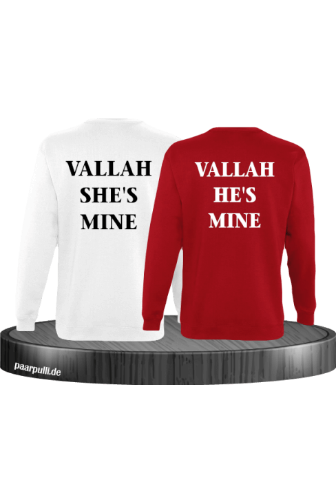 Vallah She's Mine Vallah He's Mine Sweatshirts in weiß rot