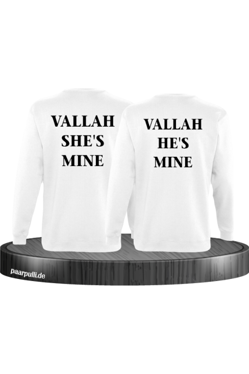 Vallah She's Mine Vallah He's Mine Sweatshirts in weiß