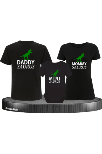 Daddy, Mommy und Mini Saurus mit Baby-Body Familienlook