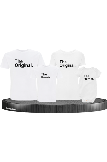 The Original und Remix 4er Familien T-Shirt Set