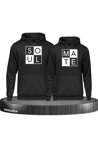 Soul Mate Hoodies Partnerlook in schwarz