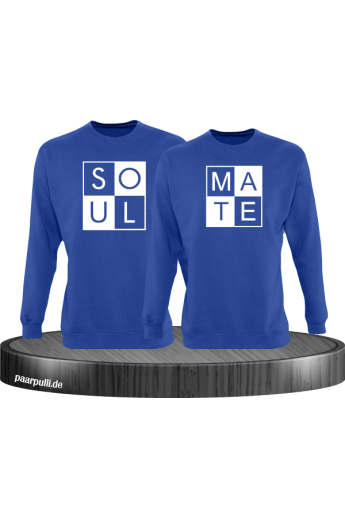 Soul Mate Partnerlook Sweatshirts in Blau