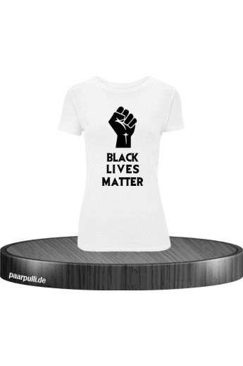 Black Lives Matter T-Shirt für Damen in weiß