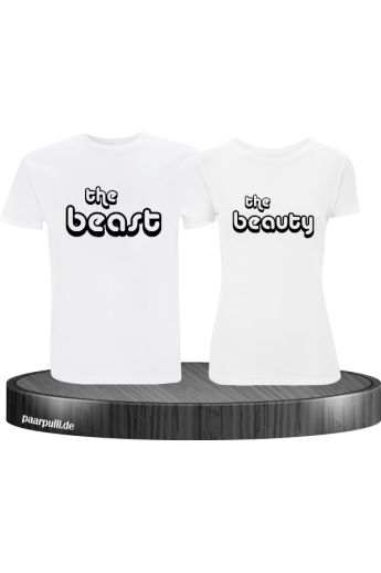 The Beast und The Beauty Partnerlook T-Shirts